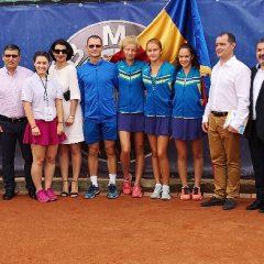 Tenis de câmp: România conduce Turcia în prima zi a turneului european de la Bistrița! Autoritățile, nelipsite din poza de deschidere!