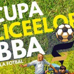 Cupa Liceelor BBA la fotbal, cu premii în bani! Dacă ești elev de liceu din Bistrița-Năsăud, fă-ți echipă și înscrie-te!