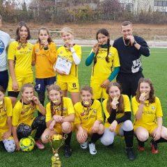 "Fotbal feminin, under 14: Selecționata județului, aur la turneul ""fotbal și feminitate"""