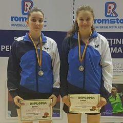 Tenis de masă: Andreea Clapa și Tania Plăian, vicecampioane naționale la dublu!