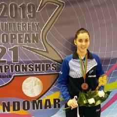 Tenis de masă: Tania Plăian, medalie la europenele sub 21 de ani, la prima participare!