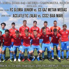 Fotbal, Under 19: Zonă la Bistrița! Gloria Junior se bate pentru turneul final!