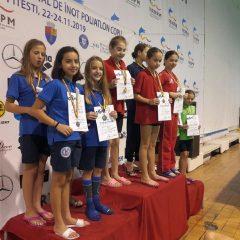 Înot, copii 10-11 ani: Lorena Ovoș, din nou dublă vicecampioană națională