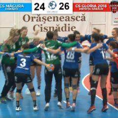 Victorie la Cisnădie și Gloria termină anul pe podium, la egalitate cu CSM București!