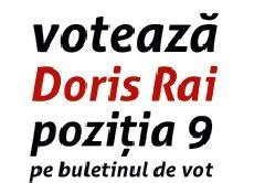 """Doris Rai: """"Întoarcem foaia și votăm Bistrița 9!"""""""