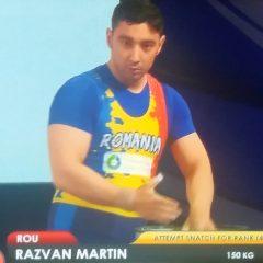 Haltere: Bistrițeanul Răzvan Martin, aur la europene! România a ajuns la 20 de medalii