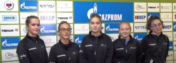 Tenis de masă: Cu 3 din cele 5 jucătoare ale României, Bistrița ridică titlul european la junioare 1!