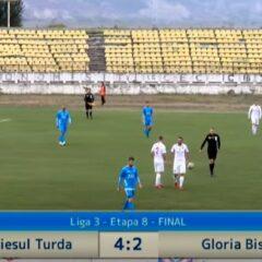 Fotbal: Gloria pierde ușor la Turda și ratează o bună șansă de a sălta în clasament!